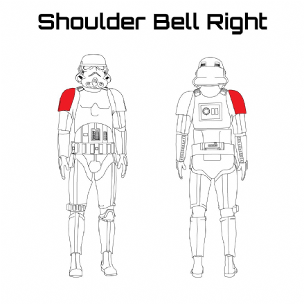 ORIGINAL STORMTROOPER ARMOUR PARTS [Shoulder Bell Right]